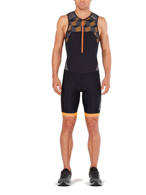 2XU Active Trisuit Men black/retro flame orange